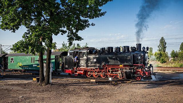 Zwei-Zug-Betrieb bei der Lößnitzgrundbahn