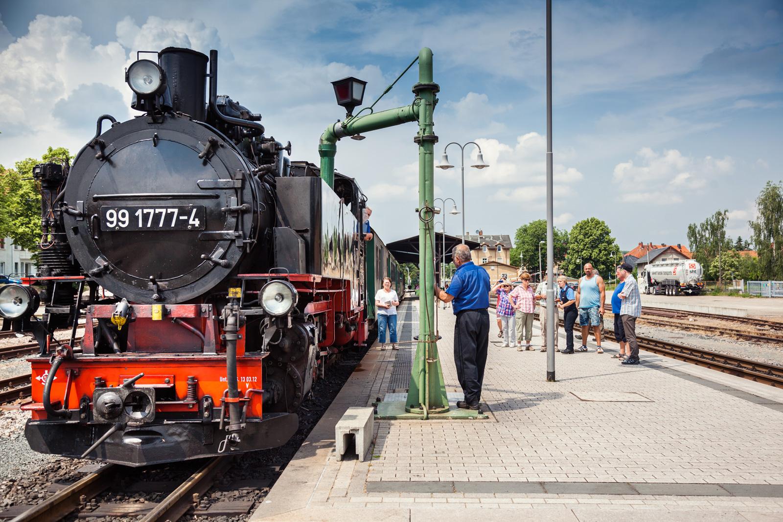 Zwei-Zug-Betrieb Weißeritztalbahn