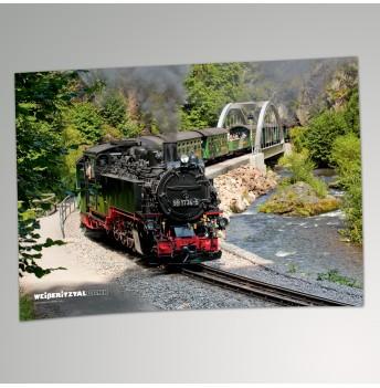 "Plakat - Stabbogenbrücke Rabenau ""Weißeritztalbahn"""