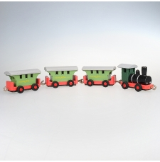 Holzeisenbahn bunt