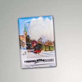 Magnet mit Eisenbahnmotiv