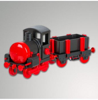 Eisenbahn+Wagen Plastik mit Glocke