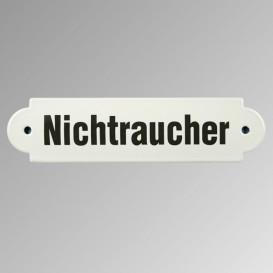 """Emailleschild """"Nichtraucher"""""""