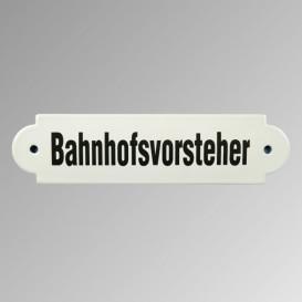 """Emailleschild """"Bahnhofsvorsteher"""""""