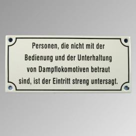 """Emailleschild 17 x 18 cm """"Personen die nicht …"""""""