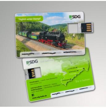 USB-Stick 4 GB im Scheckkartenformat im NEUEN Design