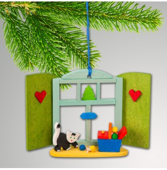 NEU Baumbehang Weihnachtsfenster Katze