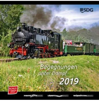 """NEU Kalender 2019 """"Begegnungen unter Dampf"""" groß"""