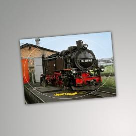Aufkleber Postkarte Lokschuppen