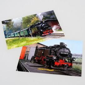 "Aufkleberset Postkarten ""Lößnitzgrundbahn"""