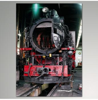 """Plakat - Lok """"Lößnitzgrundbahn"""""""