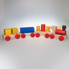 Spielzeugeisenbahn bunt