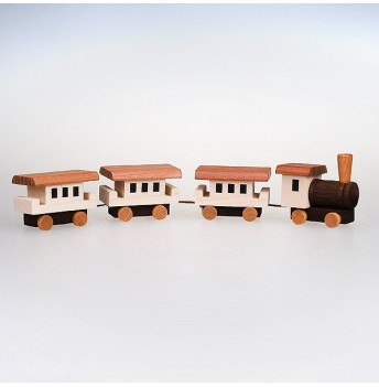 Eisenbahn 4-teilig - natur